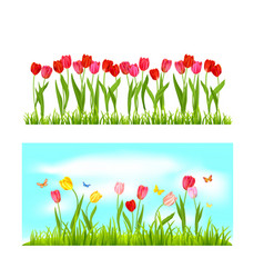spring nature banners vector image