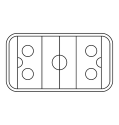 Stadium icon outline style vector