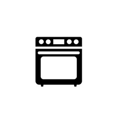 stove flat icon vector image