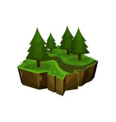 Summer forest natural landscape fantastic island vector