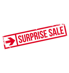 surprise sale rubber stamp vector image vector image