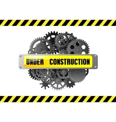 Under construction web page warning vector