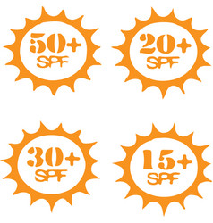 Uv protection icon isolated on white background vector
