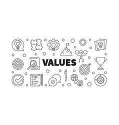 Values concept banner or in vector