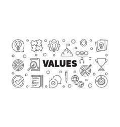 Values concept banner vector