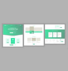Web page design website business style vector