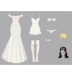 Wedding clothes vector
