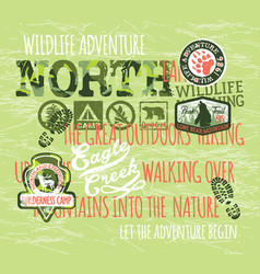 wildlife adventure outdoor hiking expedition vector image