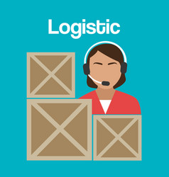 Worker logistic service avatar vector