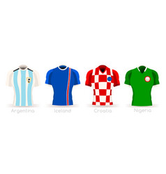 World cup group d team uniform vector