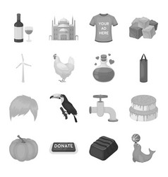 Bottle alcohol wine and other web icon in vector