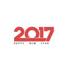Happy New Year 2017 holiday poster red lettering vector image vector image