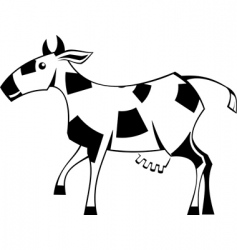 stylization cow vector image vector image
