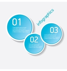 Blue modern progress paper banners vector