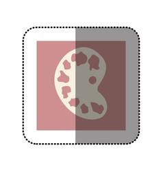 color sticker square with art palette icon vector image