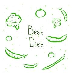 Design elements vegetables vector image vector image