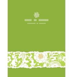 Green and golden garden silhouettes vertical torn vector image vector image