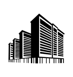 logo silhouette of skyscrapers vector image vector image