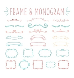 Set of simple and graceful monogram design vector image