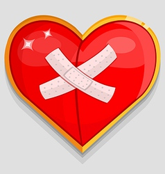 big red wounded heart vector image