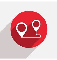 modern map pointer red circle icon vector image