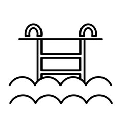 water pool line icon sign on vector image