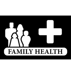 black family health icon vector image