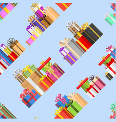 gift box packs composition greeting birthday vector image