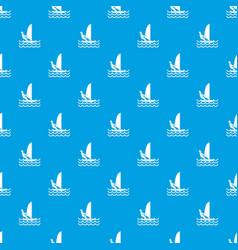 man on windsurf pattern seamless blue vector image vector image