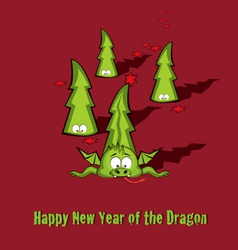 new year greeting card vector image vector image