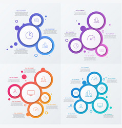 Abstract gradient minimalistic infographic vector