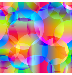 abstract seamless background of rainbow circles vector image