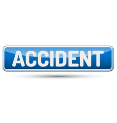 accident - abstract beautiful button with text vector image