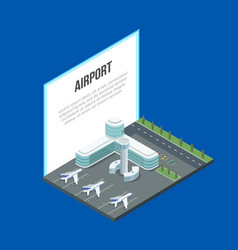 airport terminal and banner vector image