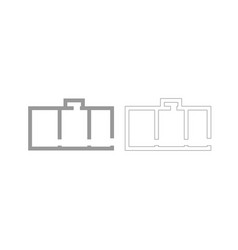Apartment plan grey set icon vector
