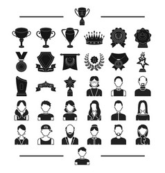 Attribute winnings hairdresser and other web vector