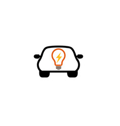 auto idea logo lamp vector image