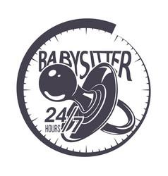 babysitter typography emblem vector image