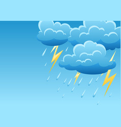background with thunderstorm of vector image