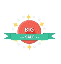 Badge Sale with ribbon Design Flat vector image