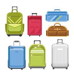 Bags different type models of travel bag vector