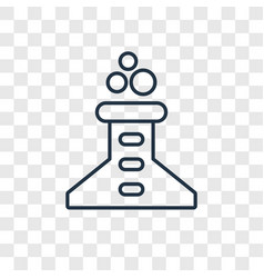 beaker concept linear icon isolated on vector image