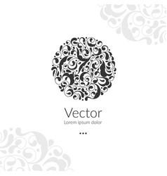 Beautiful circle ornament detailed vector