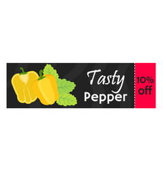 Bell pepper sale - organic vegetarian nutrition vector