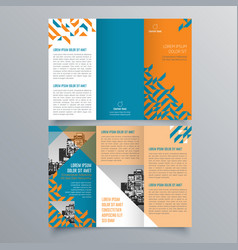 brochure design 840 vector image
