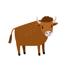 Bull cartoon icon vector