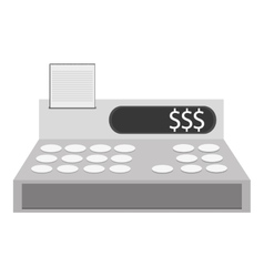 cash register cashier flat icon vector image