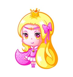 Chibi princess vector