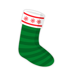 Christmas sock stripe snowflake vector