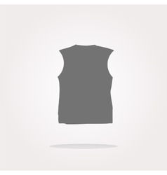 Clothes for women or man T-shirt web icon vector image